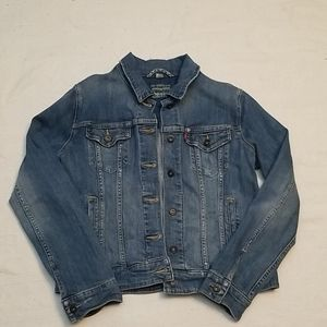 Levi's Large jean jacket with some stretch.